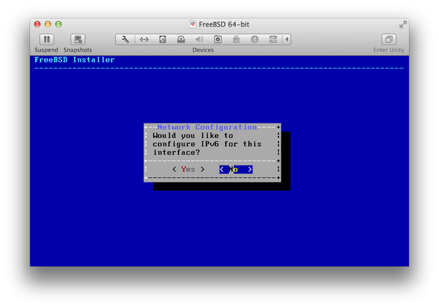 FreeBSD installer IPv6