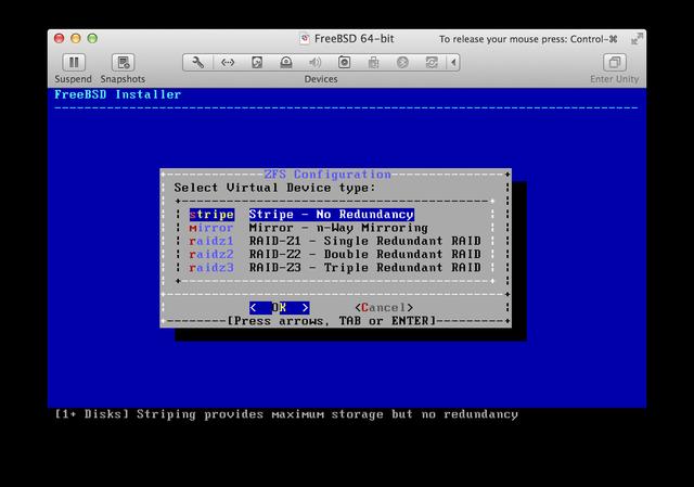 FreeBSD installer ZFS RAID