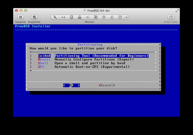 FreeBSD installer UFS