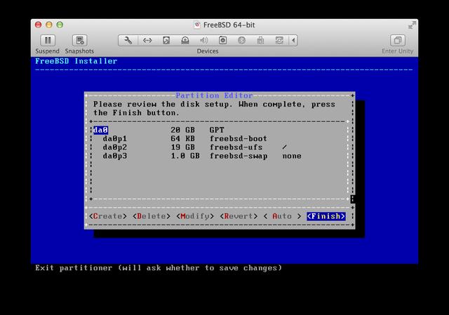 FreeBSD installer UFS Review