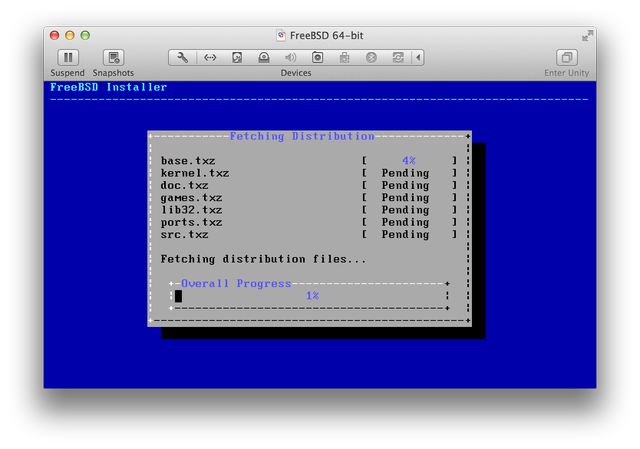 FreeBSD installing