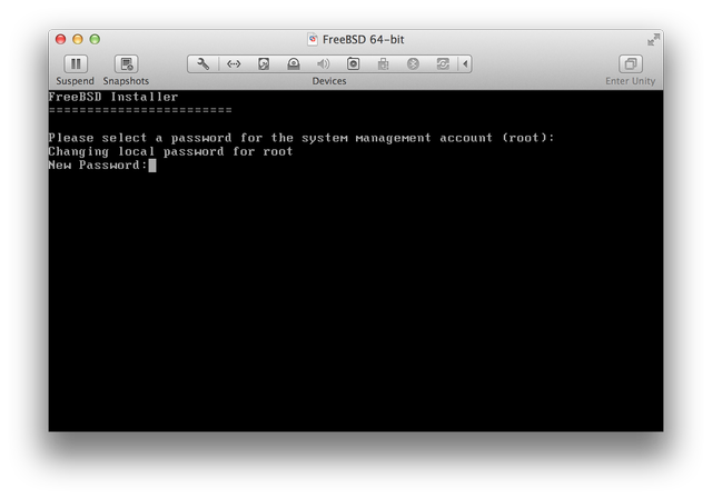 FreeBSD set root password