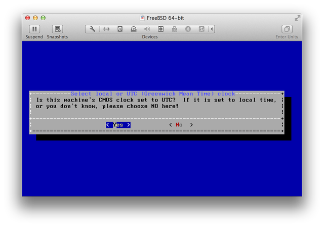 FreeBSD Install UTC