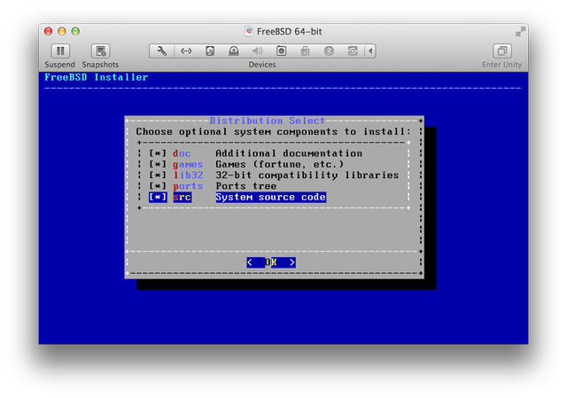 FreeBSD installer system components