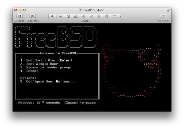 FreeBSD first boot