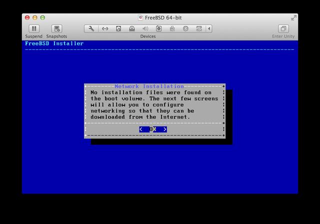 FreeBSD installer network installation