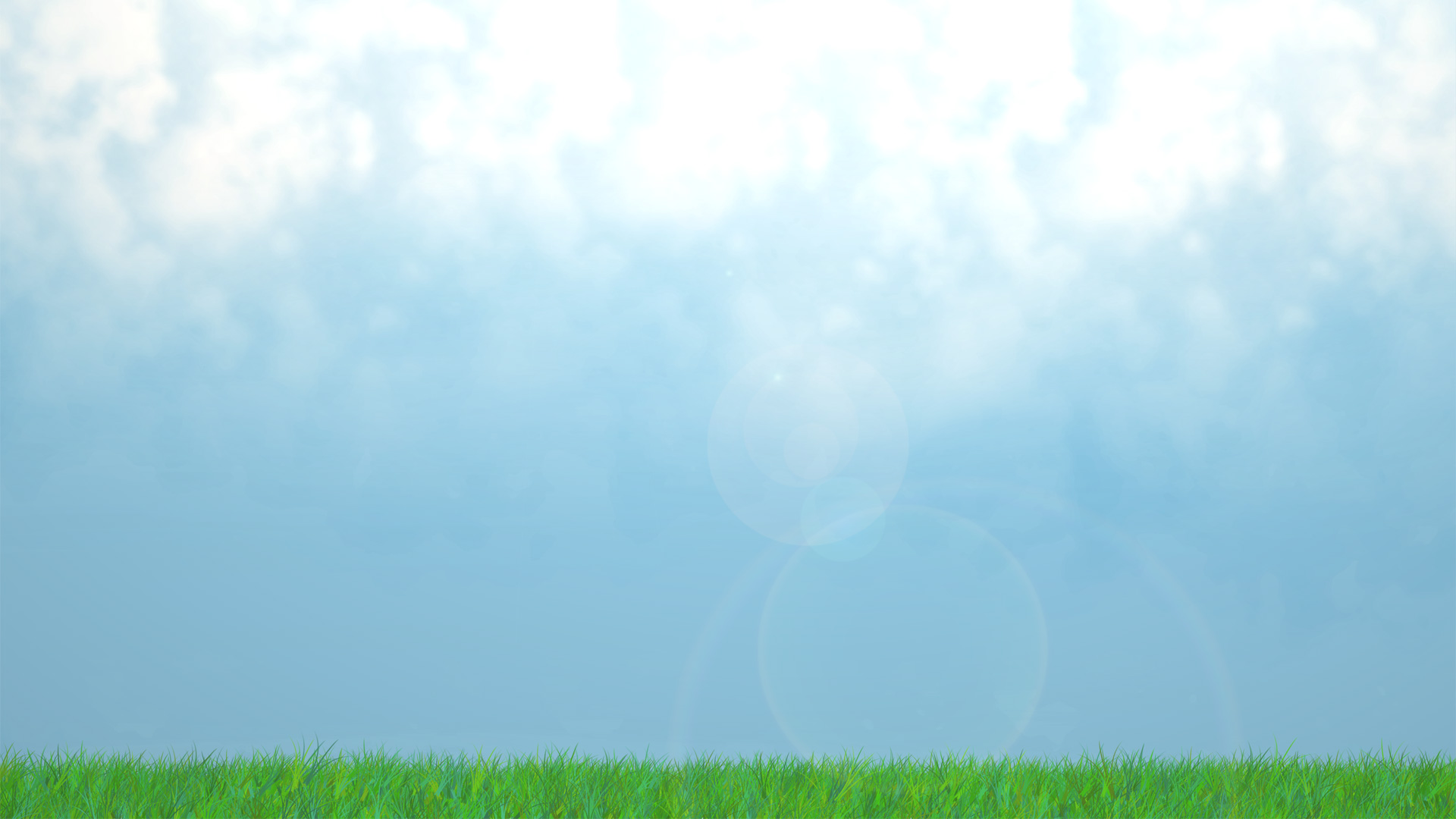 Green Grass And Sky Background
